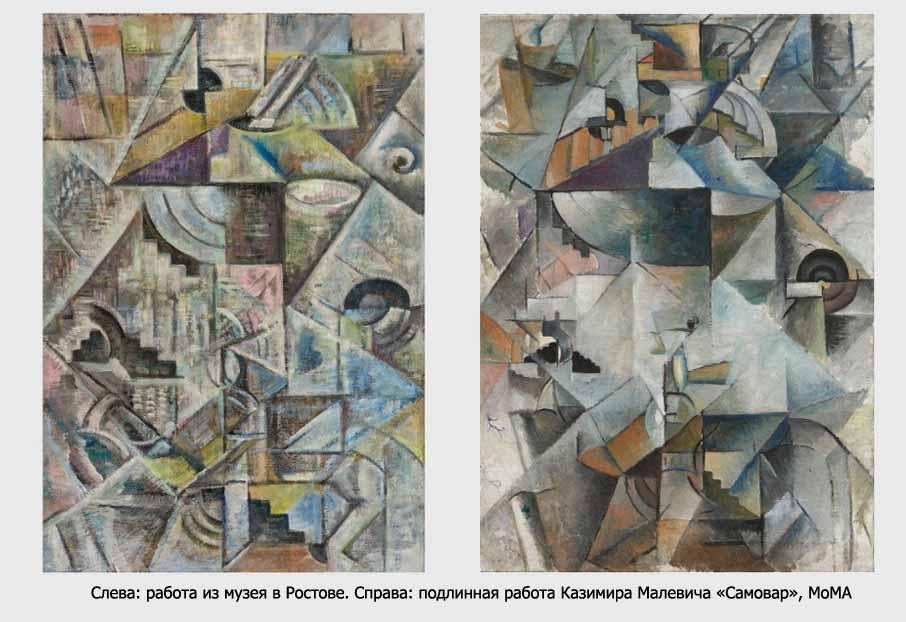 Картины Малевича иПоповой вРостовском кремле оказались подделками