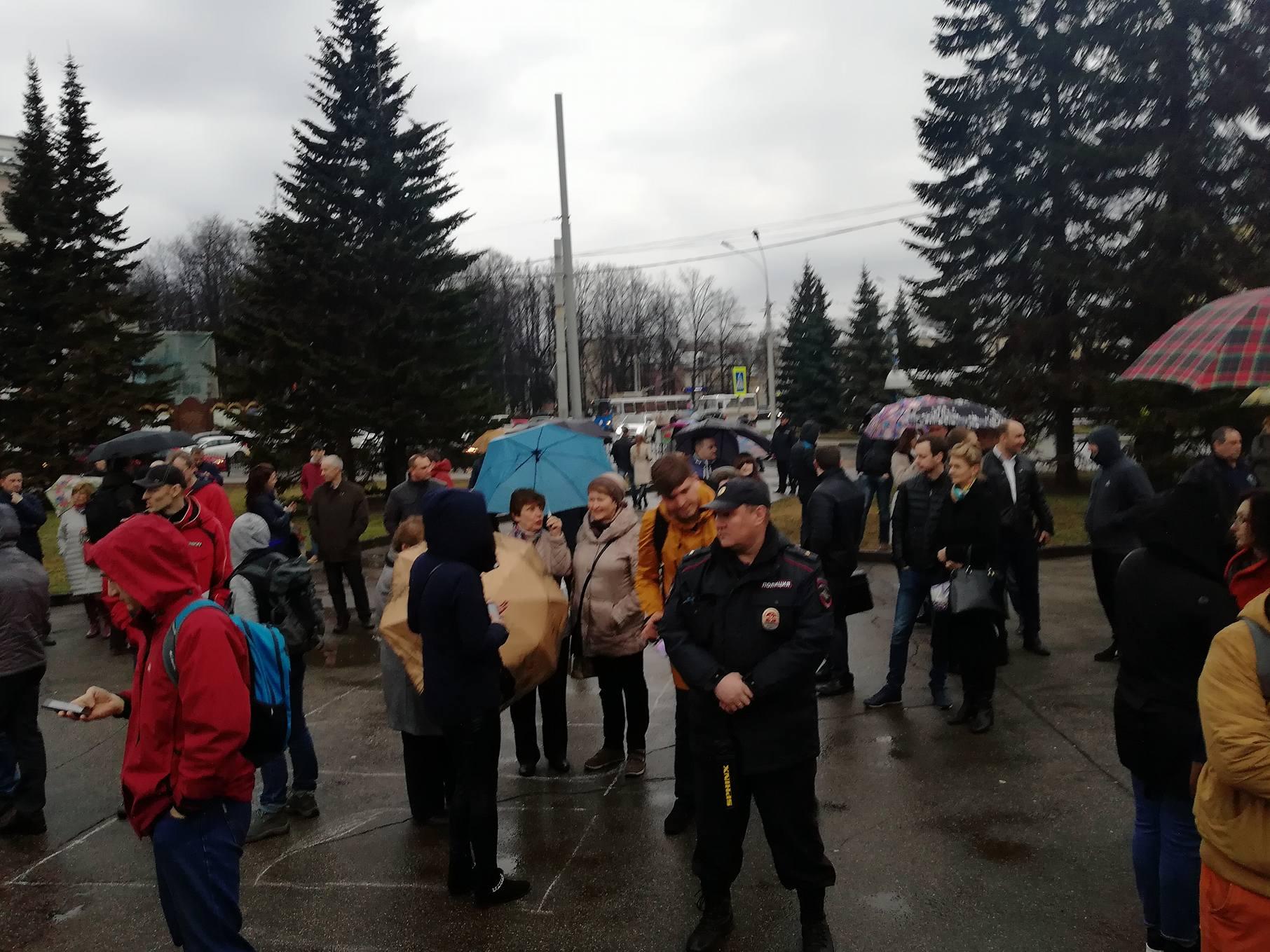 Граждане Ярославля вышли намитинг против завоза мусора из столицы